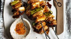 Neil Perry's barbecue yakitori chicken skewers are super tasty. Barbecue Recipes, Meat Recipes, Asian Recipes, Chicken Recipes, Cooking Recipes, Vegetarian Barbecue, Fodmap Recipes, Copycat Recipes, Free Recipes