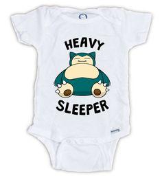 SNORLAX Baby Onesie, Snorlax Heavy Sleeper, Pokemon Baby Bodysuit, Cute Pokemon Shirt, Pokemon Go Onesie, Snorlax Onesie, Nap Time Onesie by JujuApparel on Etsy