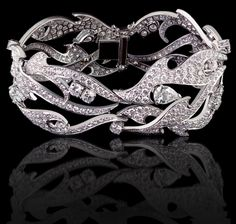 Fire of London couture bracelet in white gold and diamonds Fire of London Collections Garrard  (Oh why not?)