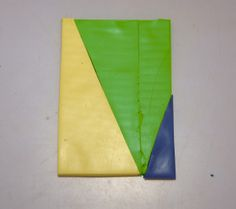 """2.I cut, stack, and arrange my 3 colors to look like this.  My Skinner blend will be made from this slab, which is approximately ¼""""/6.35mm ..."""