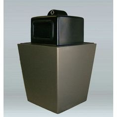 Allied Molded Products St. Louis 50-Gal Side Opening with Hide-A-Butt Industrial Recycling Bin Color: Mauve Dust