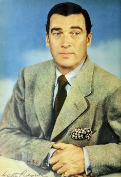 "Walter Pidgeon (1897-1984) from ""Photoplay, May 1942"