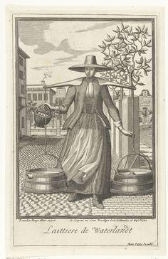 Melkmeid uit Waterland, Pieter van den Berge, Pieter Persoy, Jaques Le Moine de l'Espine, 1669 - in of voor 1689