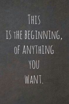 You always have the chance to make new beginnings!!