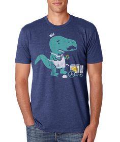 Moustache T Shirt T-Rex T Shirt Mens T Shirt Movember par FuzzyInk