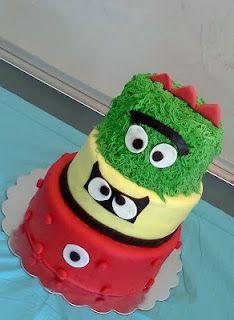 Yo Gabba Gabba cake. So cute! Hannah would like this