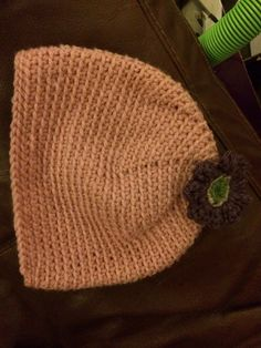 Pink hat from side