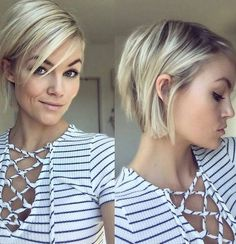 Layered, Blond Courts Hairstyle - Facile Haircuts pour Fille