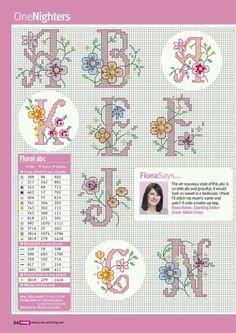 Çiçekli harfler 3