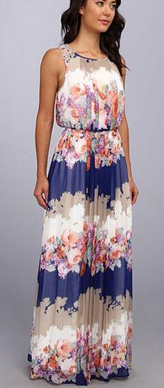 Pleating front sleeveless long maxi dress
