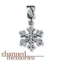 Charmed Memories®  Snowflake & Crystal Charm