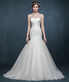 Simple Sweetheart-Neck Ruched Mermaid Wedding Dresses