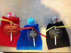 Took this great super hero valentine idea and adapted it for classified staff appreciation week. Fun!