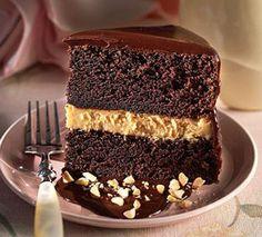 Tarta de chocolate y mantequilla de cacahuete sin harina                                                                                                                                                     Más