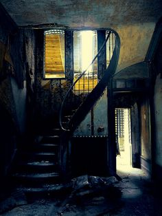 Abandoned staircase.