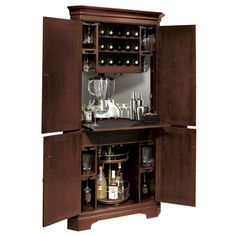 LOEKS  corner+mini+bar+cabinet | Howard Miller New York Loft Hide A Bar Liquor Cabinet