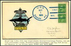 United States U-Boote der Porpoise-Klasse USS Shark SS-174, Prachtbrief 1935  Lot condition   Dealer Briefmarken Fischer Shop  Fixed price: 8.00 EUR