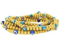 Six Multi-Colored Evil Eye Bracelets in 20K from B2 at Beladora.com