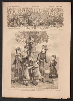 'LA MODE ILLUSTREE' FRENCH VINTAGE NEWSPAPER 4 JULY 1880  