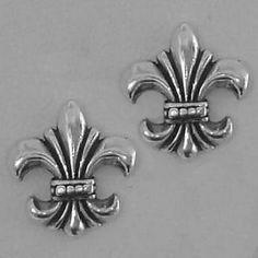 solid sterling silver 925 fleur-de-lis cufflinks