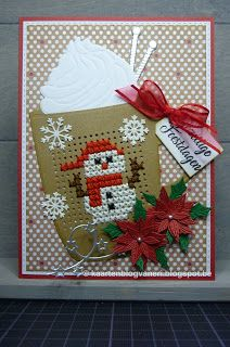 Eri's Kaartenblog!!: Gezellige Feestdagen! Stamped Christmas Cards, Christmas Cross, Christmas Balls, Cross Stitch Cards, Cross Stitching, Marianne Design, Tag Design, Ball Ornaments, Making Ideas