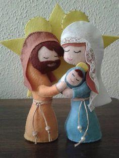 Sagrada familia em feltro