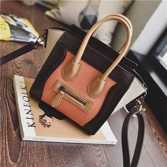 Bolsos Mujer Trapeze Smiley Tote Bag Luxury Brand PU Leather Women Handbag Shoulder Bag Famous Designer Crossbody Bags Sac