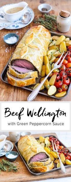 Beef Wellington with Green Peppercorn Sauce | eatlittlebird.com