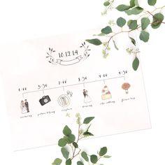 Custom Wedding Timeline Illustration
