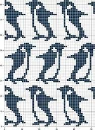 Afbeeldingsresultaat voor punch card machine knitting penguin
