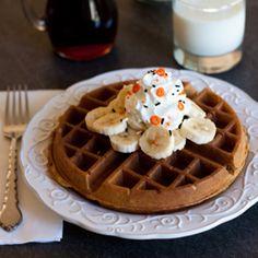 Whole Wheat Pumpkin Yeast Waffles
