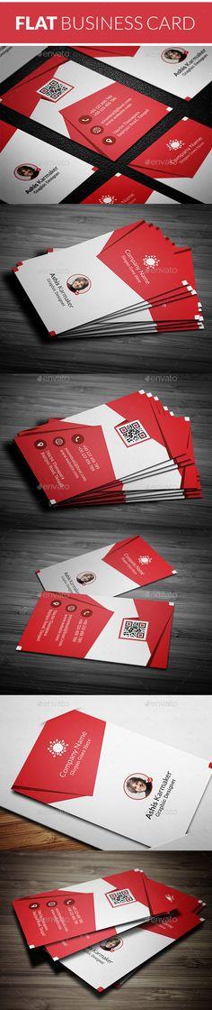 Flat Business Card Template PSD #design Download: http://graphicriver.net/item/flat-business-card/14442699?ref=ksioks