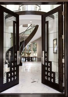 Stunning Art Deco entrance, black and marble!