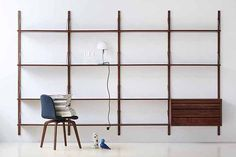 ROYAL SYSTEM walnut, 4 sections with cupboard/drawers