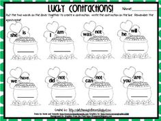 {Freebie} Get Lucky with St. Patrick's Day Contractions!