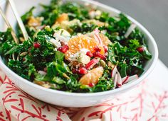 Kale, Clementine and Feta Salad with Honey-Lime Dressing Recipe - cookieandkate.com