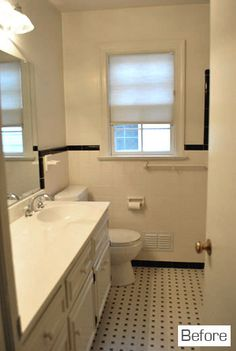 diy frame for builders' mirror in bathroom -- they didn't paint the back of the frame black -- I've heard that's a good way to go, since the color will be reflected by the mirror --