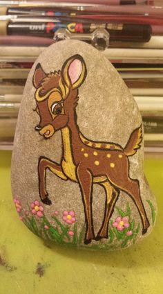 Painted rocks  Bambi