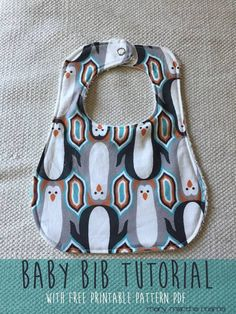 Baby Bib - I originally found this great project on freeneedle.com along with 1,000s of other free sewing and craft ideas!