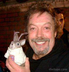 tim curry hlding a jackalope.... need I say more?