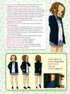 K-On!   Kakifly   Kyoto Animation / Character Profile / Tainaka Ritsu [2]