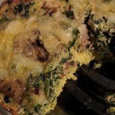 Spinach and Mushroom Frittata Allrecipes.com