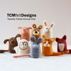 Needle-felted creatures by TCMfeltDesigns.  Too cute for words. Kits also available, like to get one.