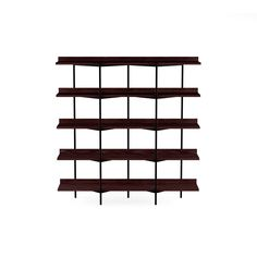 BDI Kite 5305 Wall Shelving System, Charcoal Stained Ash & Black