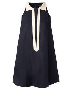 Textured Silk Sleeveless Dress Solid Ink :: Orla Kiley