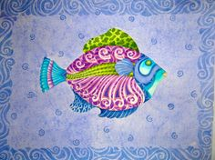 FISH FIESTA Watercolor Tropical/ Nautical Vibe. by ChristineGraf