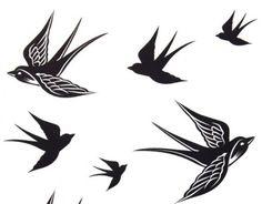modele-tatouage-hirondelles-noires modèle de tatouage