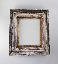 Distressed frame - love empty wall frames gathered in a collage