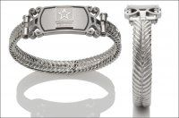 Women's Army Bracelet - Silver Emblem