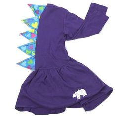 Perfect for dino-loving girls who love to twirl, pleated rex dresses have spikes securely machine stitched down the back.